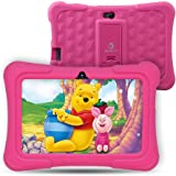 """Dragon Touch Kids Tablet, Y88X Pro Android 9.0 OS 7"""" IPS Display 2GB Ram 16GB ROM Kidoz & Google Play Pre-Installed with Kid-Proof Casel - Pink"""