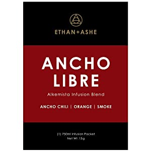Ethan+Ashe - Ancho Libre Alcohol Infusion Blend - Spirit Infuser Packet - Add Flavor To Liquor - Spicy Blend For Bourbon, Rum, Scotch, Tequila, Mezcal, & Vodka - 750 ML