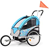 vidaXL 2-in-1 Kids' Bicycle Trailer & Stroller Children Jogger