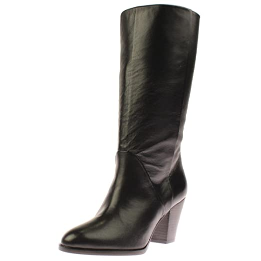Womens Diana Leather Mid-Calf Boots