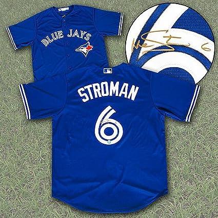 best service b5ab0 fcd68 Marcus Stroman Toronto Blue Jays Autographed Replica MLB ...
