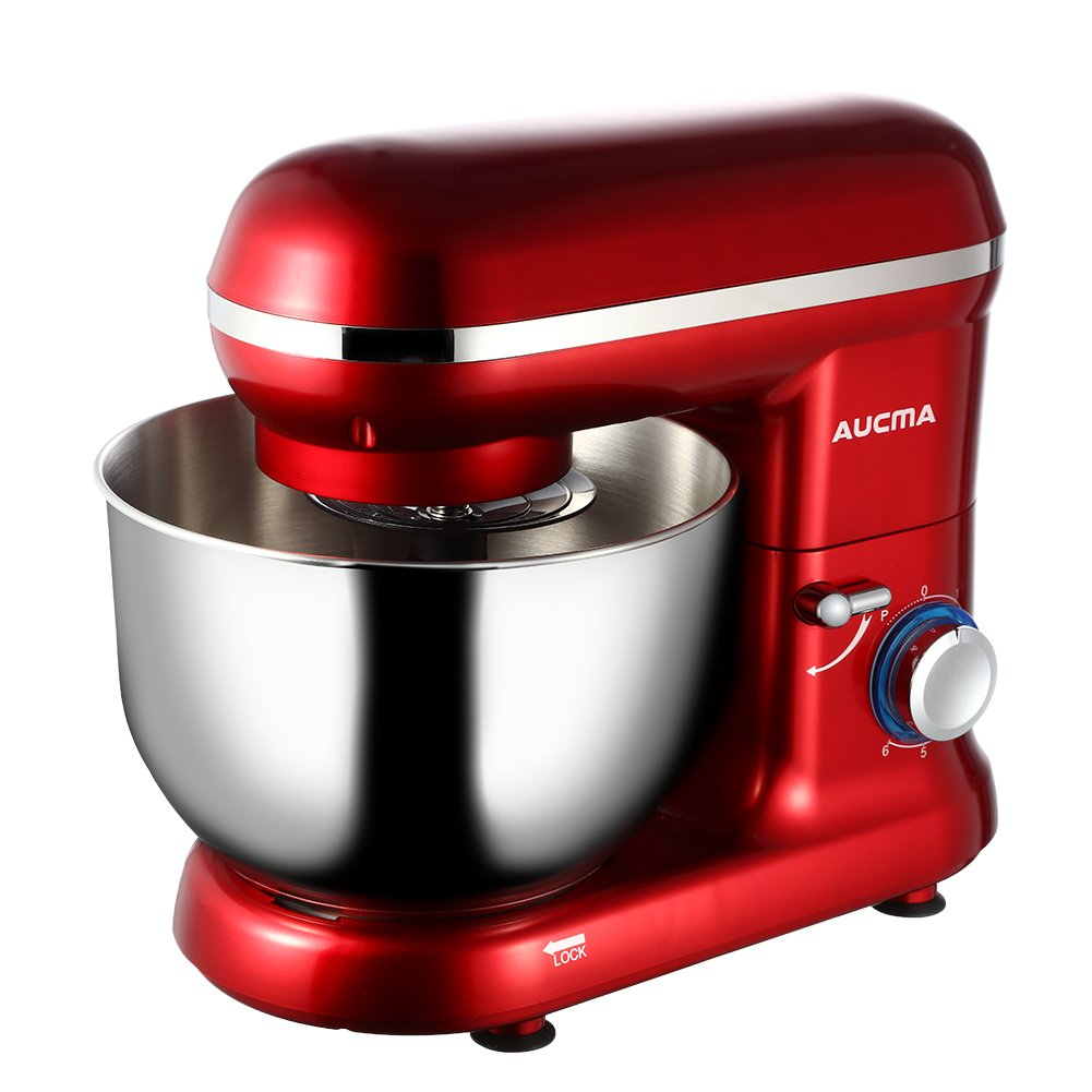Aucma stm2 Stand Mixer Kitchen & Dining, 15.16 x 8.78 x 12.56 inches, Red