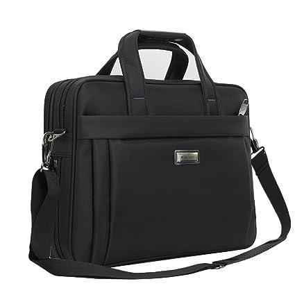 Bolso/maletín para portátiles de 15,6 pulgadas, maletín portátil 15.6 pulgadas , expansible organizador de nailon multifuncional para Hombres, Mujeres, ...