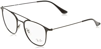 Ray-Ban Unisex-Erwachsene Brillengestell RX6377, Schwarz (Negro), 48