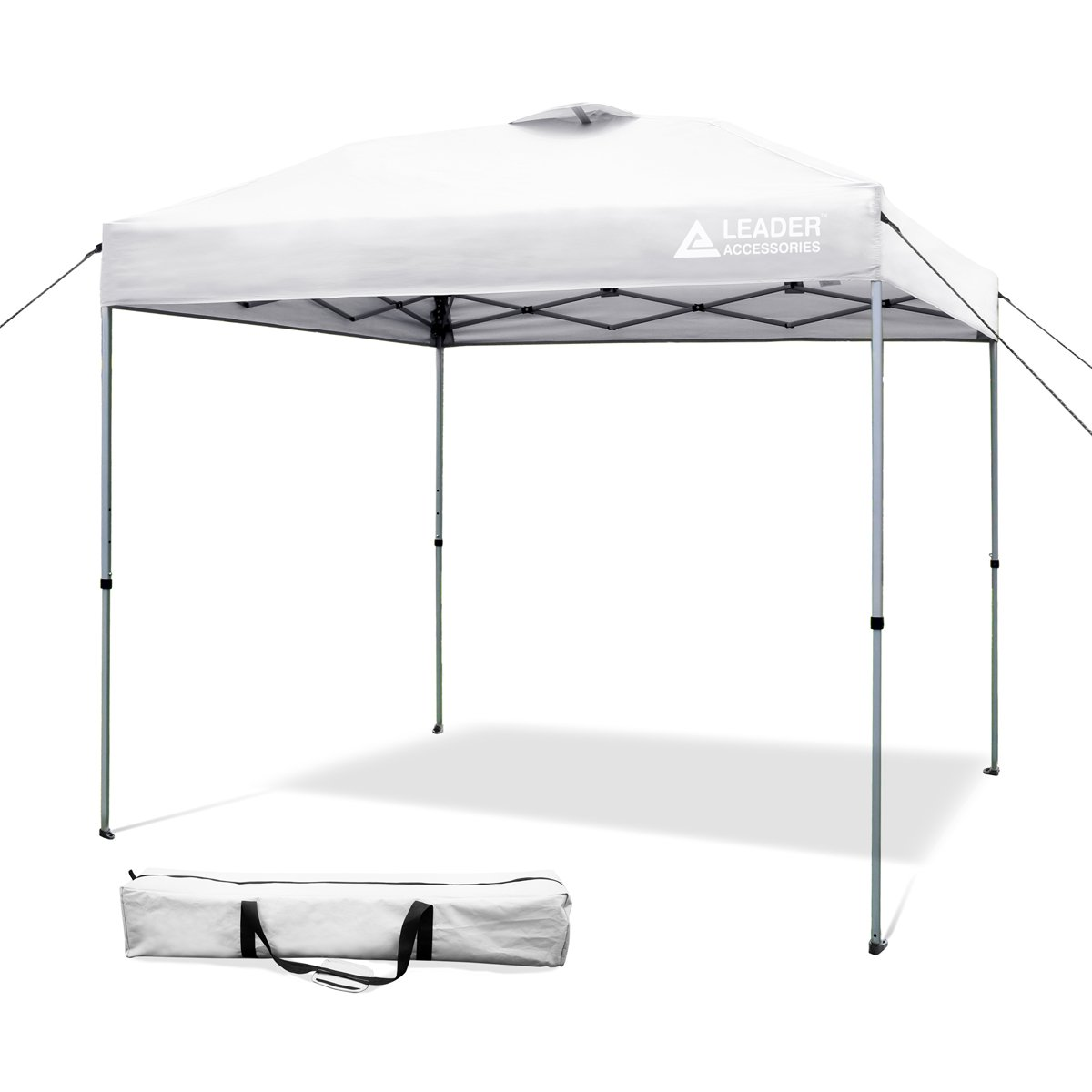 Leader Accessories 8' x 8' Straight Wall Instant Canopy with Carry Bag 8' x 8' Straight Wall Instant Canopy with Carry Bag (Silver)