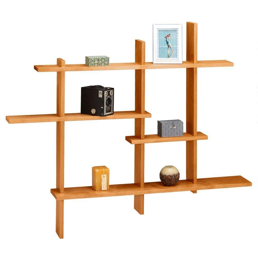Standard Contemporary Display Shelf, STANDARD, HONEY