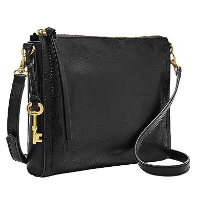 073e38f17c1b Fossil Emma E/W Crossbody Bag, Black: Handbags: Amazon.com