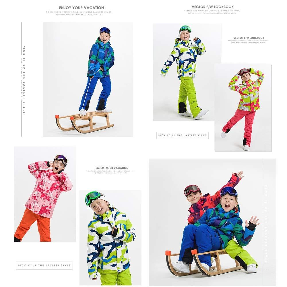 ChenYongPing Set da Sci Sci Sci per Bambini Ragazzi e Ragazze di Sci ad Alta Tecnologia Impermeabile Antivento Caldo Camuffamento Pantaloni da Neve per Bambini (Coloreee   C5, Dimensione   120)B07L4GPQDM150 C8 | Prestazioni Superiori  | Primi Clienti  | Moda mo 2ca01d