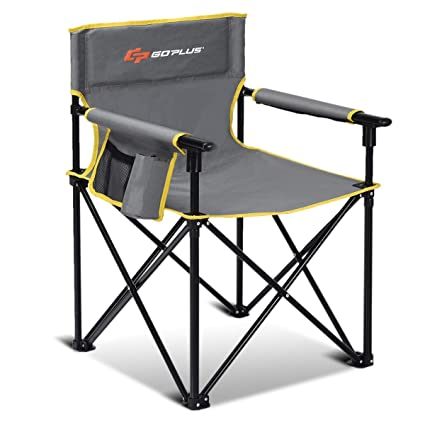 Amazon.com: Goplus Silla plegable para acampada, silla ...