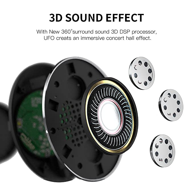 Bluedio U (UFO) Faith series High-End Bluetooth headphones Revolution  Patented 8 Tracks /3D Sound Effect /Aluminum alloy build/Hi-Fi Rank