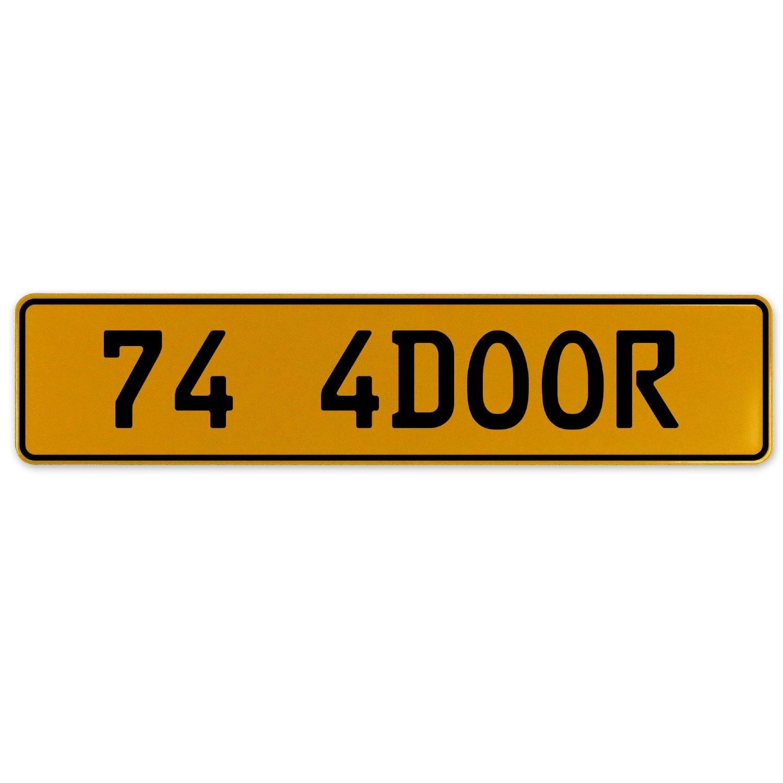 Vintage Parts 563186 74 4DOOR Yellow Stamped Aluminum European Plate