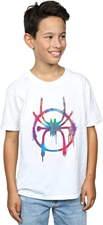 Marvel Niños Spider-Man Into The Spider-Verse Rainbow Spray Camiseta