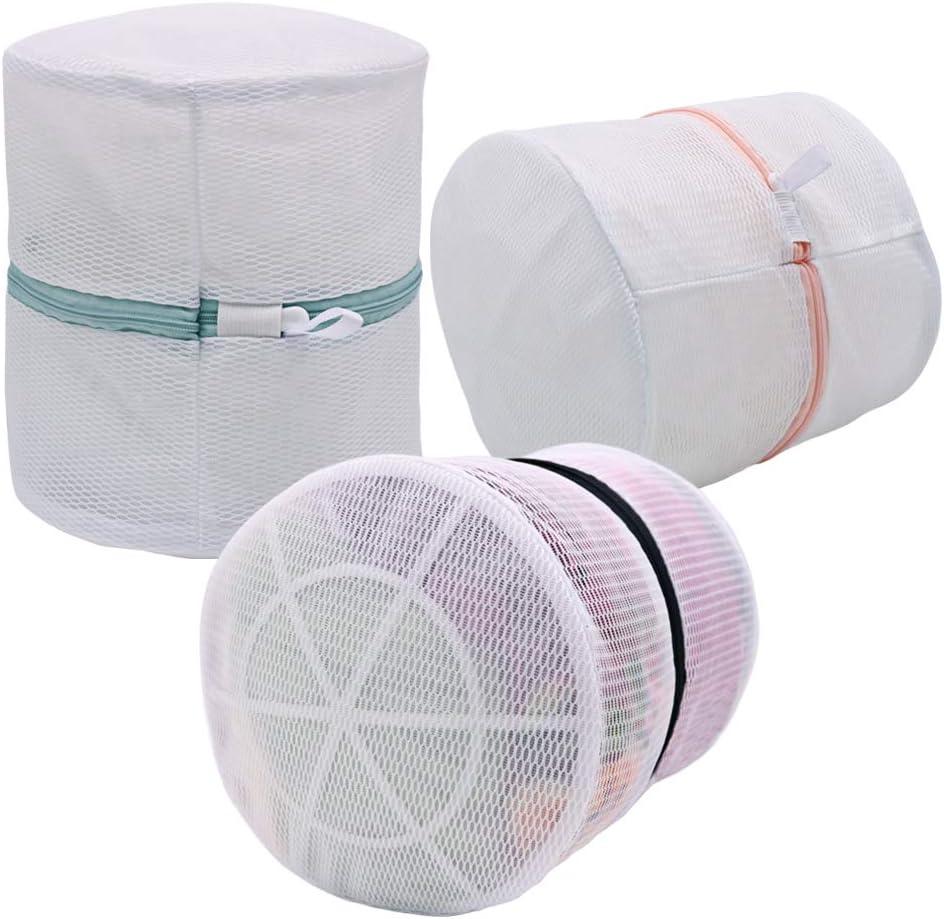 Vivifying Bra Laundry Bag, Set of 3 Coarse Mesh Large Lingerie Laundry Bag with Zip Closure for Bra, Underwear, Delicates, Socks