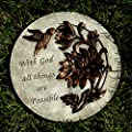 Home & Garden with GOD All Things Possible Stone Decorative Bird 12066