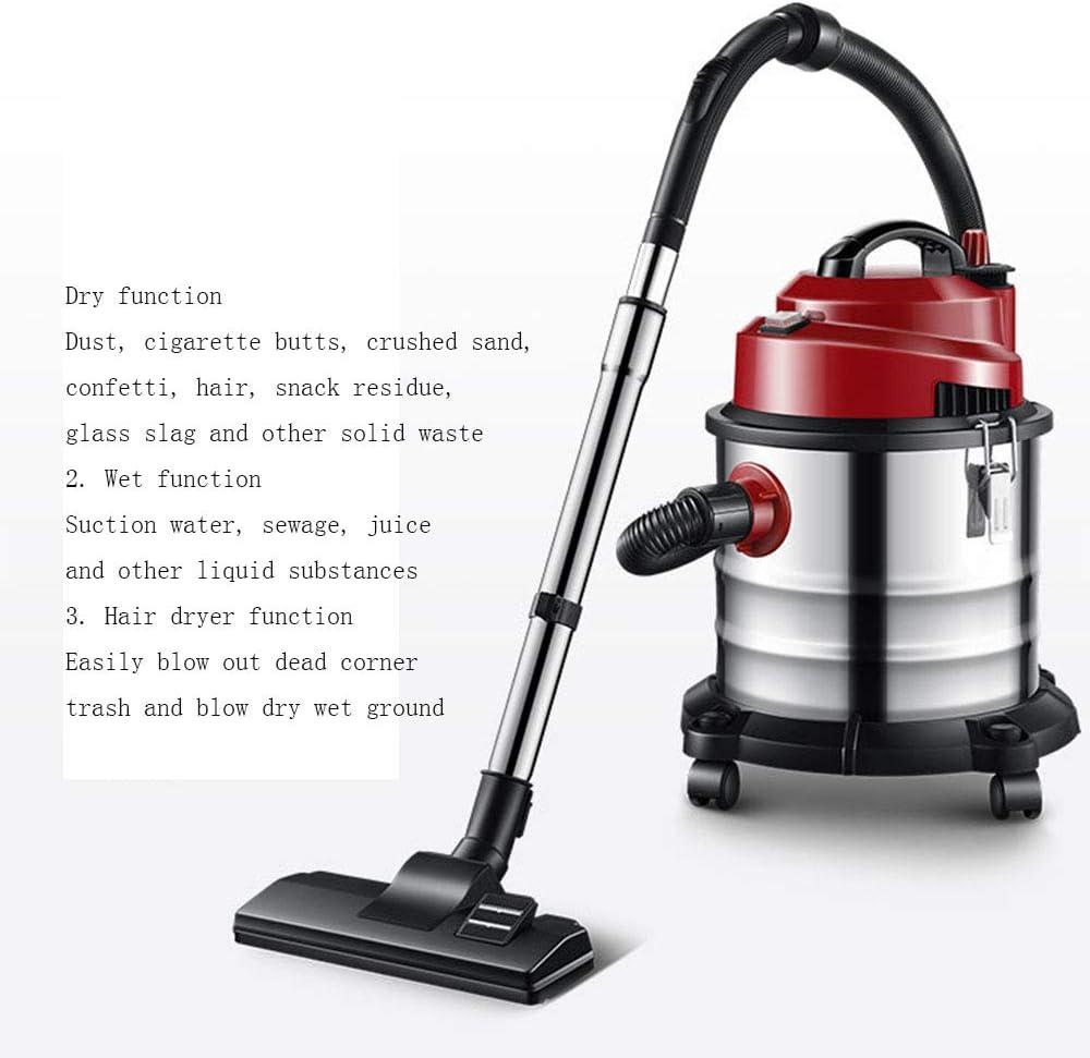 Cleaner Aspirador de Barril hogar Comercial de Alta Potencia seco y húmedo soplado Potente aspiradora Vertical: Amazon.es: Hogar