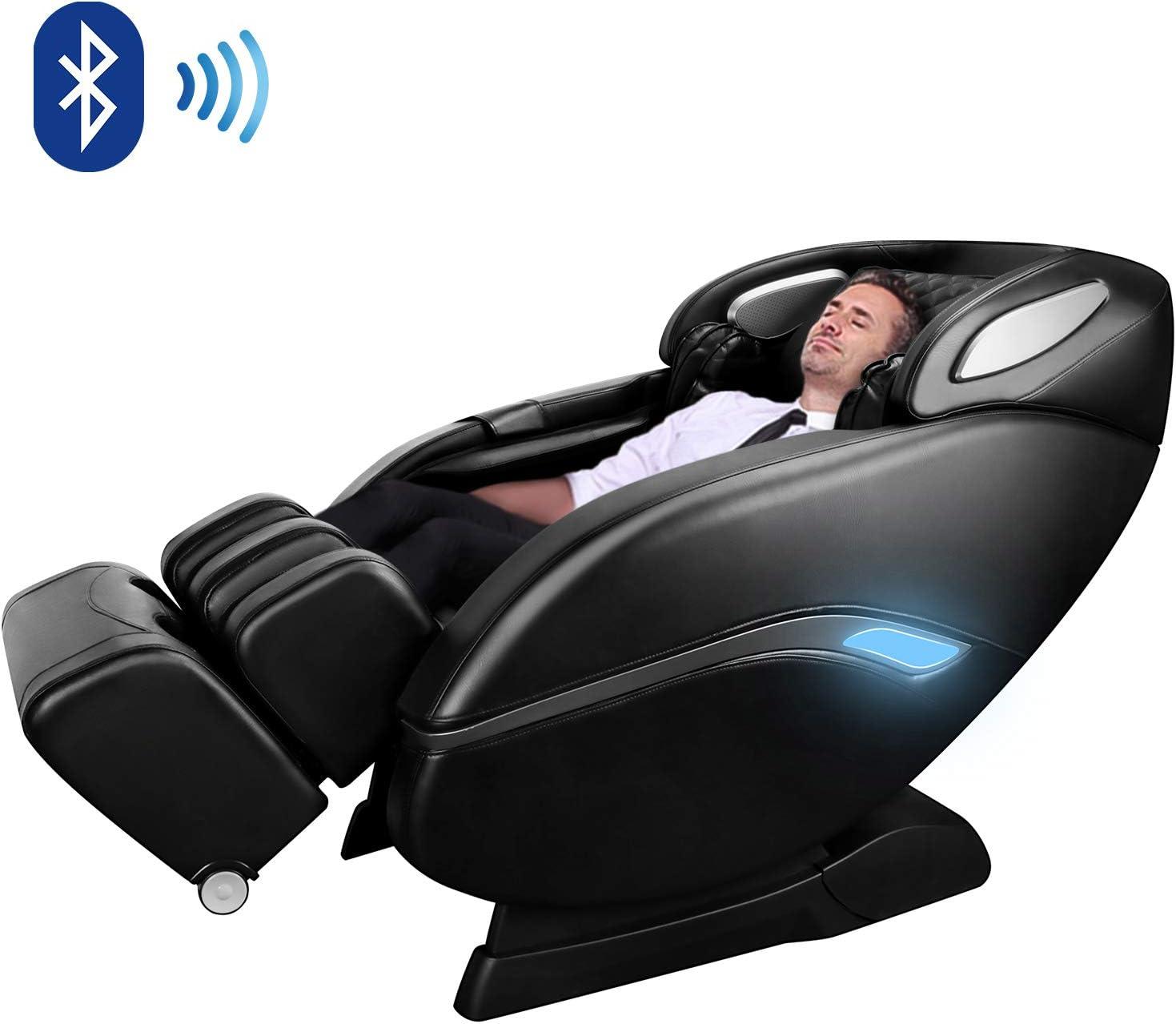 Massage Chair by OOTORI, Zero Gravity Massage Chair, Full Body Shiatsu Massage Chair Recliner with Space Saving, Yoga Stretching, SL Track, Bluetooth Speaker, Heat,Foot Roller Vibrator