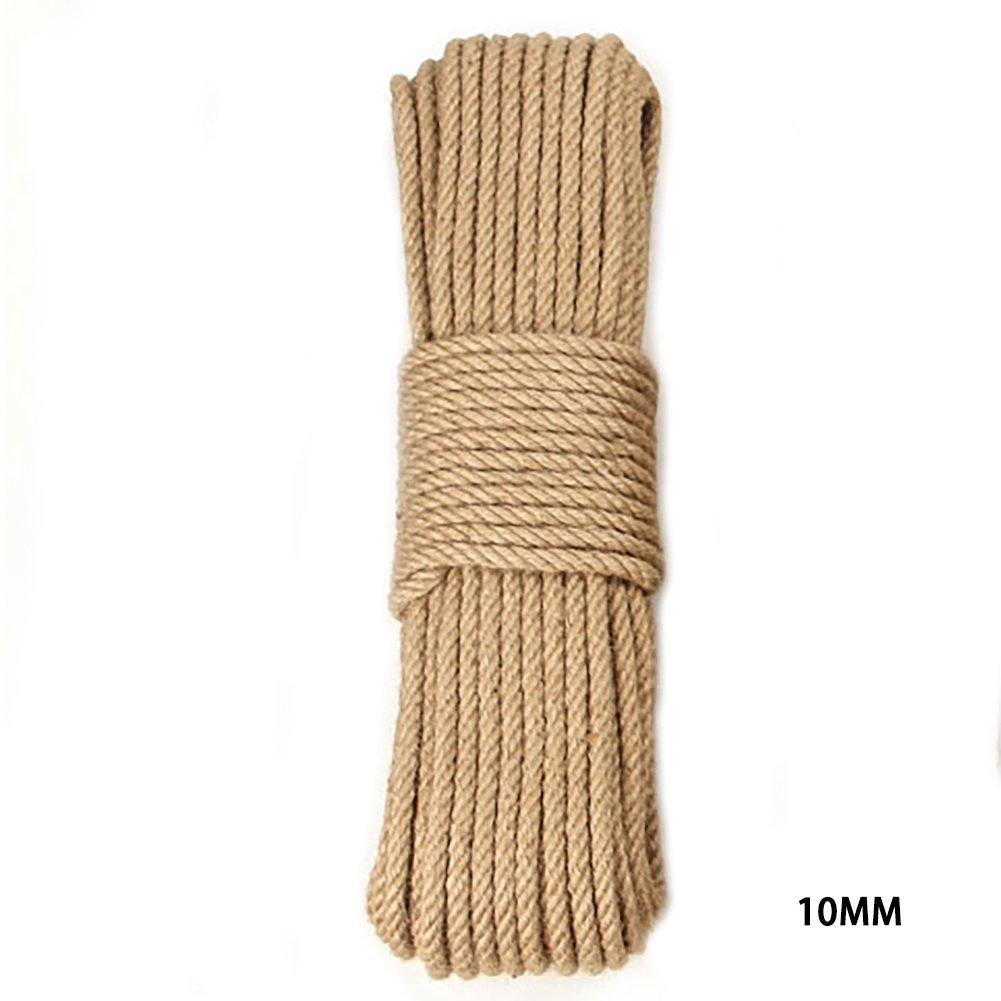 OxoxO (10MM x 20M Natural Strong Jute Twine Rope for Arts Crafts DIY Decoration Tags Present Wrapping Gift Packaging Bundling and Gardening by OxoxO