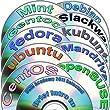 Linux Diversity 64-bit Collection, 12 DVDs Installation and Reference set: Ubuntu 17.04, Kubuntu 17.04, OpenSUSE 13.2, Fedora 25, Debian 8, CentOS 7, Mint 18, Gentoo 12, Mandriva 2011 and Slackware 14