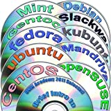 Linux Diversity 64-bit Collection, 12 DVDs Installation and Reference set: Ubuntu 17.04, Kubuntu 17.04, OpenSUSE 13.2, Fedora 25, Debian 8, CentOS 7, Mint 18, Gentoo 12, Mandriva 2011 and Slackware 14