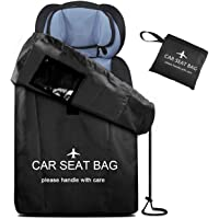 Car Seat Bag Large Gate Check Travel Luaage Bag with Backpack Shoulder Straps, Lightweight Car Seat Storage Bag Stroller…
