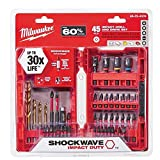 Milwaukee (48-32-4009) 45 Piece Milwaukee Shockwave™ Impact Duty™ Steel Drill Bits and Driver Set