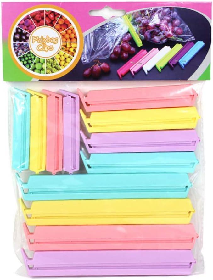 Paquete de 2 Juego de 30 pinzas de sellado surtidas de colores y tama/ños multicolor IKEA Bevara