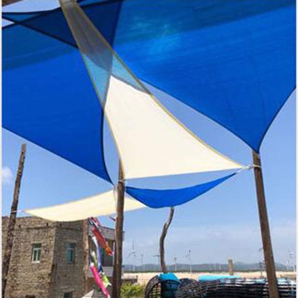Colore : Beige, Dimensioni : 3x3x3m GDMING Rete Parasole Serre Antivento Arco Triangolare Anti-UV Protezione Ombra del Cortile Impermeabile Anello A D in Metallo Poliestere 4 Taglie 4 Colori