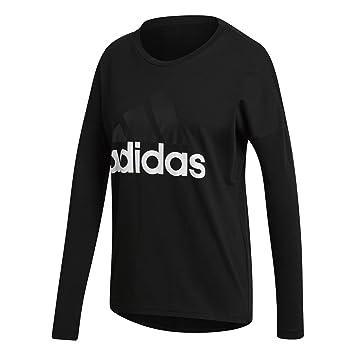766ba571 adidas Essentials Linear Women's Long-Sleeved Shirt, Womens, Essentials  Linear, black,