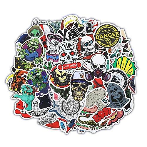 car accessories skull stickers - 1