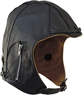 ba3c6ea1b7 Amazon.com: WWII Replica Vintage Brown Leather Aviator Pilot Helmet ...