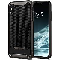 Spigen Crystal Hybrid Serisi Kılıf iPhone XS / iPhone X ile Uyumlu / TPU AirCushion Teknoloji / Ekstra Koruma - Gunmetal