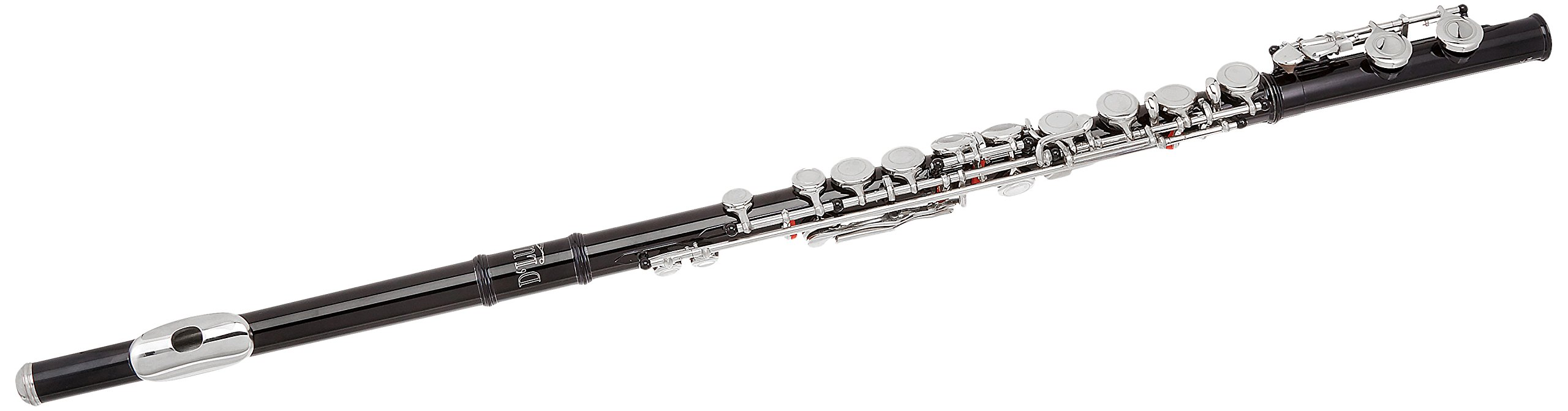 D'Luca 400BK 400 Series 16 Closed Hole C Flute with Offset G and Split E Mechanism, Case, Cleaning Kit, Black
