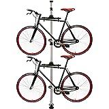 PrimeMatik - Caballete para aparcar Dos Bicicletas colgadas con Sistema de presión a Techo