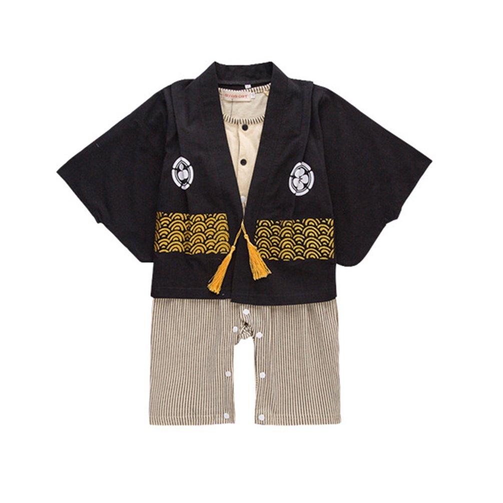 JIANLANPTT Japanese Style Baby Kids Kimono Toddler Boys Girls Rompers Outfits