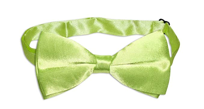 c63108f59617 Image Unavailable. Image not available for. Color: BOWTIE Solid LIME GREEN  Color Men's Bow Tie ...