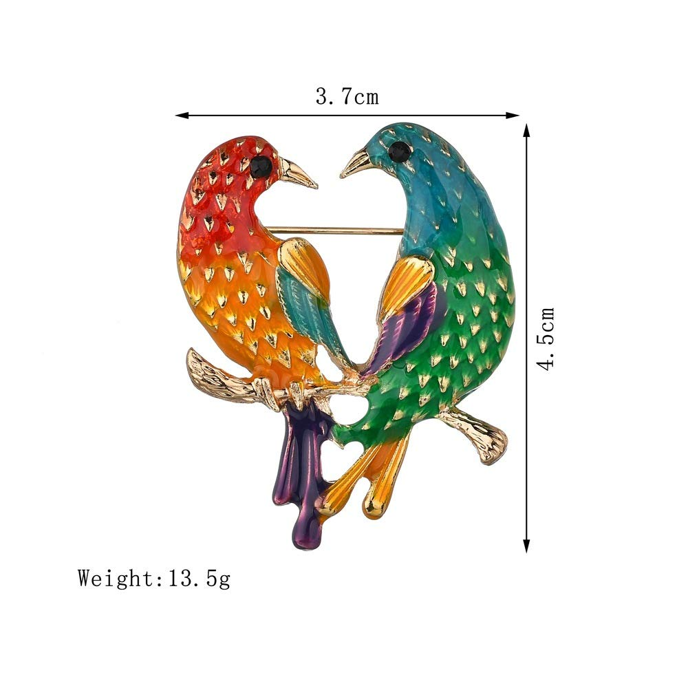 bc0d15d16 Amazon.com: MIXIA Enamel Birds Brooch Lapel Pin Clip Ladies Animal Suit  Brooch Broches Vintage Brooches for Women: Jewelry