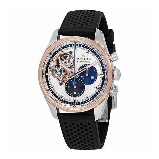 Zenith El Primero 51.2080.4061/69.R576 - Reloj cronógrafo para hombre: Amazon.es: Relojes