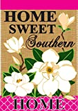 Home Sweet Southern Home Magnolia 42 x 29 Rectangular Burlap Double Applique Large House Flag Review