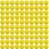 Bullet Ball Ammo Foam Dart Refills,Sbolang 100 Pcs Round Foam Refill Ammo Bullet Balls for Nerf Rival Series (Yellow)