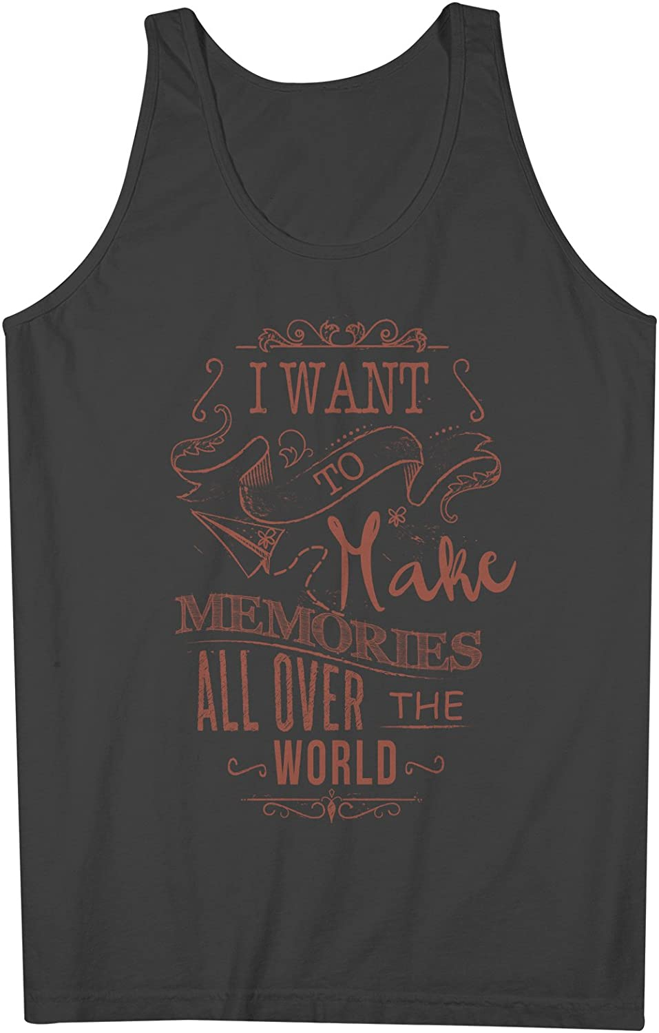 I Want To Make Memories All Over The World Traveling Mens Tank Top Sleeveless Shirt