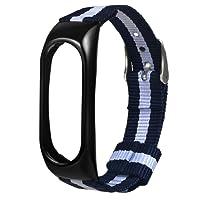 Ersatzband Für Xiaomi Mi Band 2 Mode Nylon Canvas Zweifarbig Blau und Weiß Sport Armband Ersatz Band