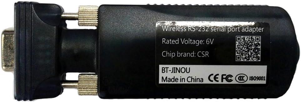jinou Bluetooth 3.0Adaptador Hembra 10m RS232serie a BLUETOOTH clase 2antena interna DB9Pin