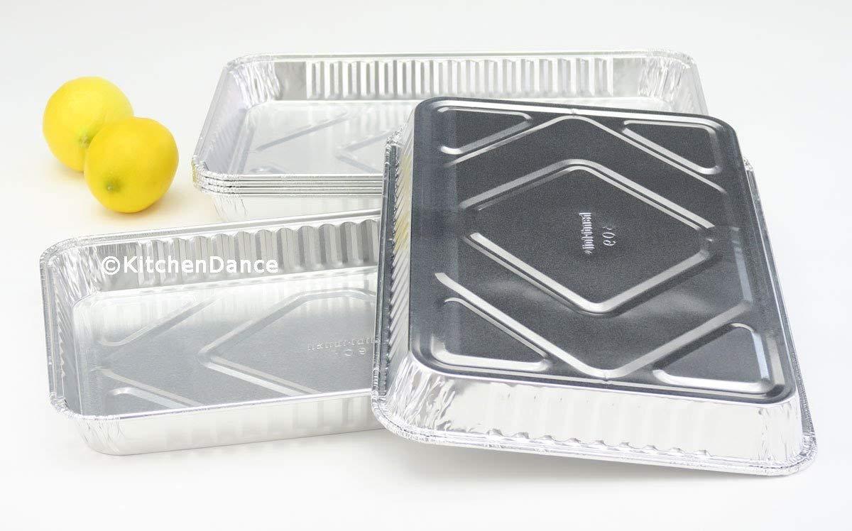HFA 309HFA, 1/4-Size Aluminum Foil Baking Sheet Pans, Take Out Baking Disposable Foil Containers (100)