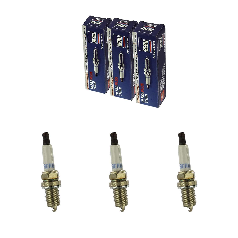 3-Zylinder 3x BERU Z/ündkerze Zuendkerze ULTRA Z243 //// 12 VR-8 SE Set
