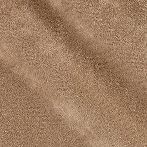 Plastex Soft Suede Mocha Fabric by The Yard,