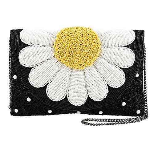 MARY FRANCES Oopsy Daisy Beaded Flower Crossbody Clutch Handbag by Mary Frances