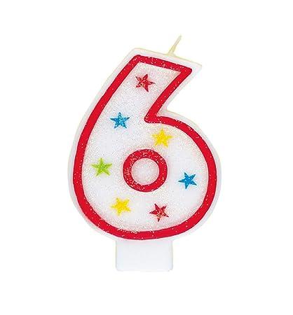 Amazon Glitter Number 6 Birthday Candle Happy Cake