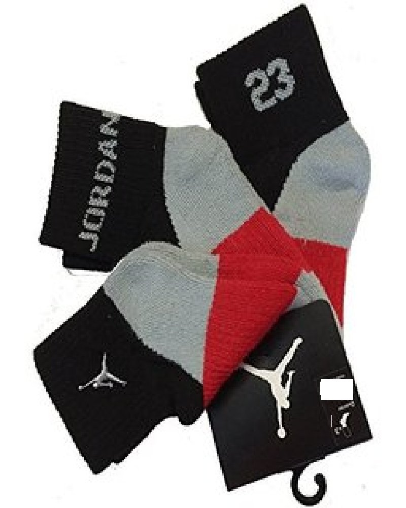Amazon.com: Nike Air Jordan Boys 3 Pair Quarter Socks Size 7-9 3Y-5Y: Sports & Outdoors