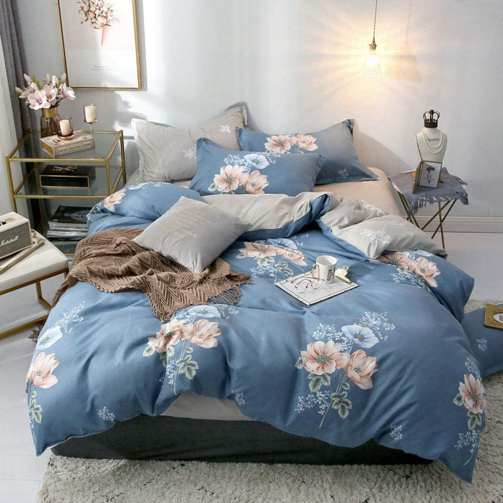 GYJWSBAW Star Owl Plaid 4 Piece Bed Cover Set Cartoon Quilt Cover Sheet and Pillow Cover Bed Cover Bedding: Amazon.es: Hogar