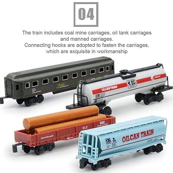 FORYOURS Tren Juguete, con Luz Y Sonido Tren Electrico ...